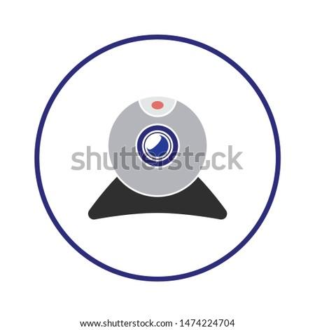 web cam icon. flat illustration of web cam vector icon. web cam sign symbol