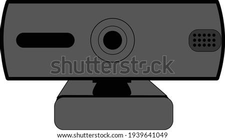 web camera for desktop computer vector illustraton