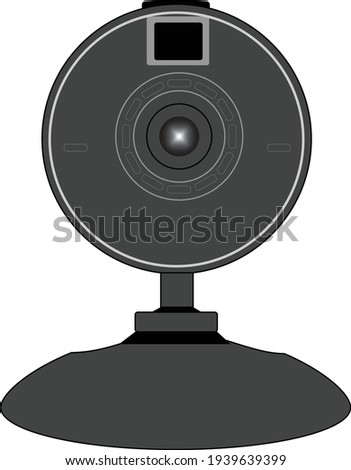 web camera isolated in white background vector illustration