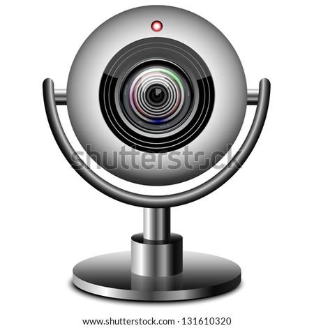 Web Camera Isolated on White Background
