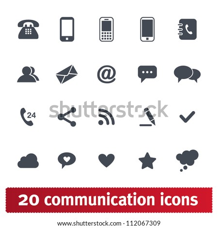 Web, communication icons: internet vector set. - stock vector