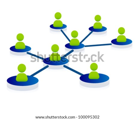web, community, support, network, team illustration