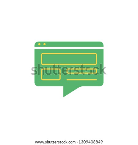 Web conversation icon. Element of Communication icon for mobile concept and web apps. Detailed Web conversation icon can be used for web and mobile