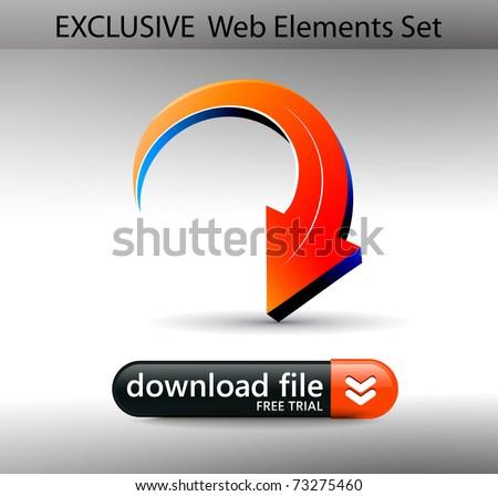 Web Design banner Element Template, editable illustration