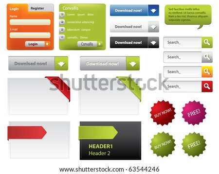 Web Design buttons and forms