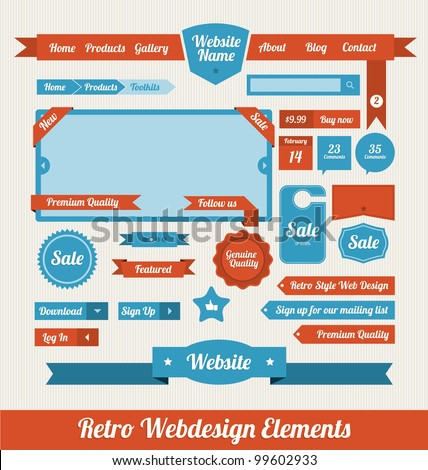 Web Design Elements - stock vector