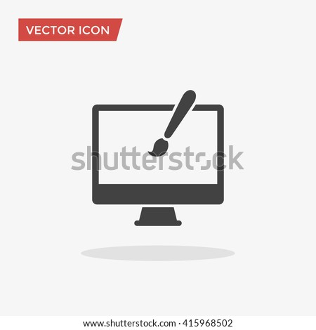 Web design Icon in trendy flat style isolated on grey background, for your web site design, app, logo, UI. Vector illustration, EPS10.