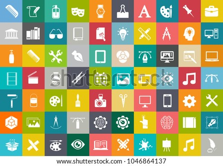 web design icons, graphic website development, computer internet symbols