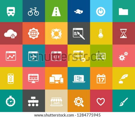 web design icons, graphic website development, computer internet symbols #1284775945