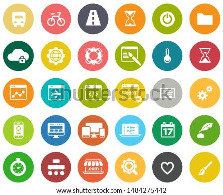 web design icons, graphic website development, computer internet symbols
