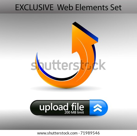 Web Design internet upload Element Template, editable illustration