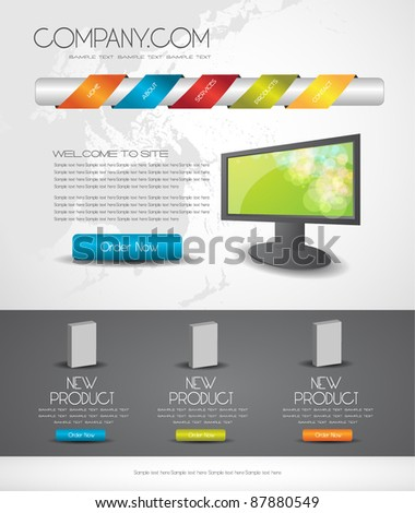 web design template easy to edit
