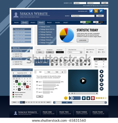 Web Design Template Element Frame