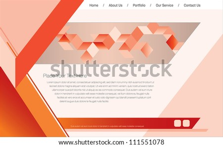Web Design Template/Vector Illustration