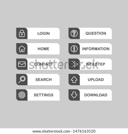 Web design vector buttons. Web buttons icons