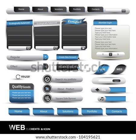 Web Design Website Element Vector