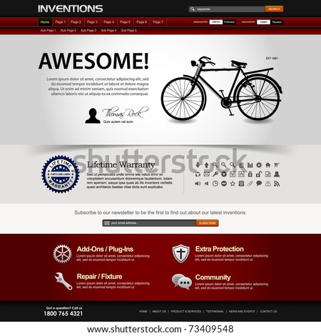Web Design Website Elements Dark Template