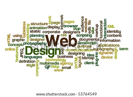 Web Design - Word Cloud