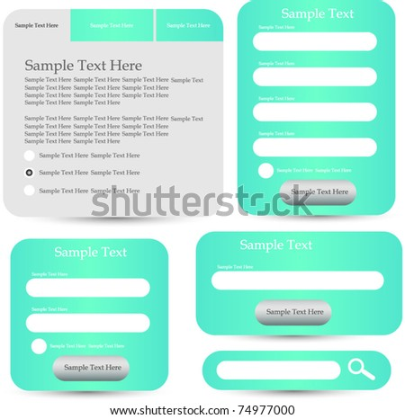 web designing frame (forms windows) - stock vector