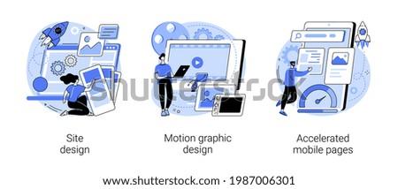 Web development company abstract concept vector illustrations.