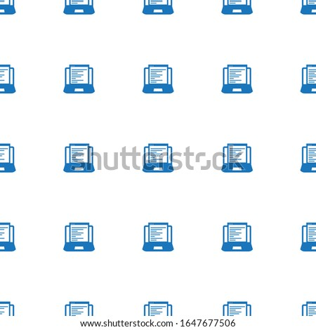 Web Development icon pattern seamless isolated on white background. Editable filled Web Development icon. Web Development icon pattern for and mobile.
