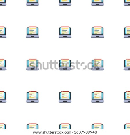 Web Development icon pattern seamless isolated on white background. Editable flat Web Development icon. Web Development icon pattern for and mobile.
