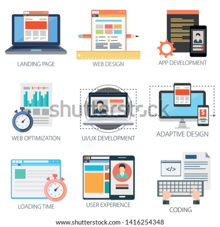 Web development Icons, Mobile Application, web design elements, web icons, design elements, Web and development Icons