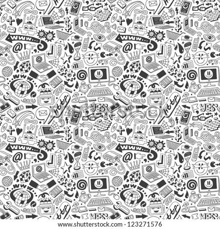 Web doodles - seamless pattern