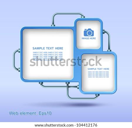 Web element design, vector, website