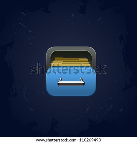 web element vector archive box square icon for app