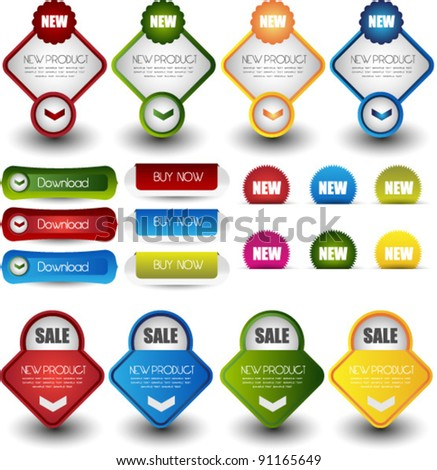web elements for online sale and advertisement