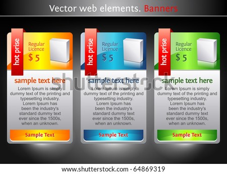 Web elements. Sale banners. Marketing illustration. Price sign.