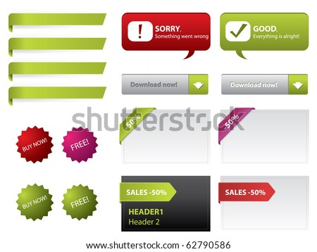 Web elements vector - stock vector