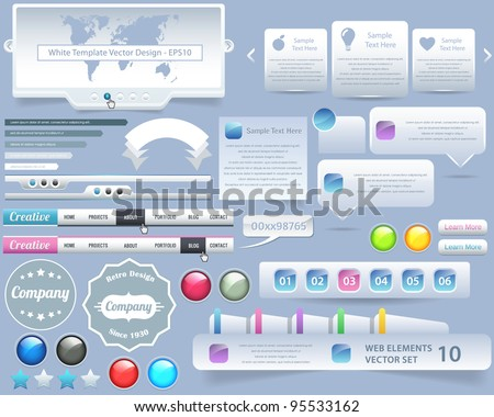 Web Elements Vector Design