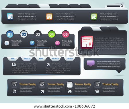 Web Elements Vector Design Set