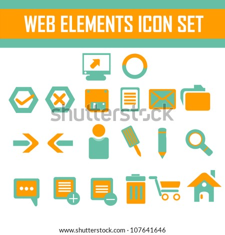 web elements, web icon set