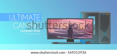 web flat vector banner on the
