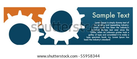 Web header with gears theme