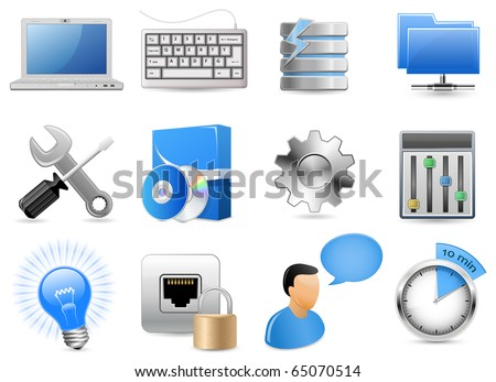 Web Hosting Panel. Highly Detailed Vector Illustrations.