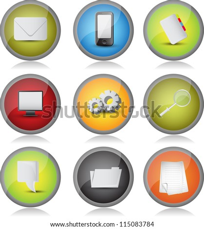 web icon/button set