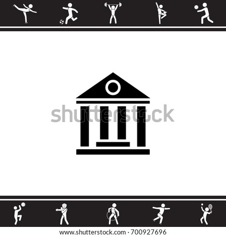 Web icon. Classical building with columns (University icon, bank icon)