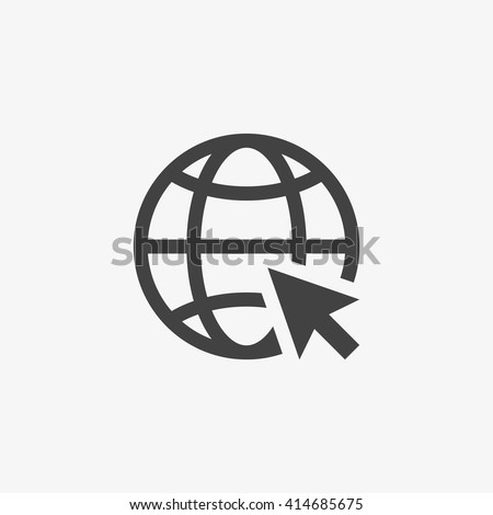 Web Icon in trendy flat style isolated on grey background. Website pictogram. Internet symbol for your web site design, logo, app, UI. Vector illustration, EPS10.