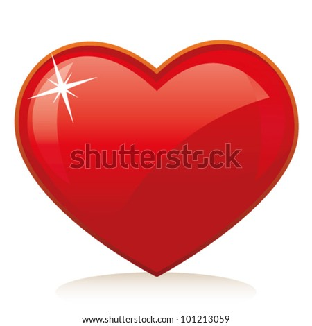 Web icon - love heart. Vector