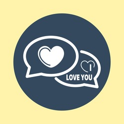 Web Icon of I Love You Comments.