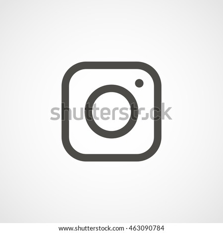 web icon of modern lineart camera. Digital application pictogram