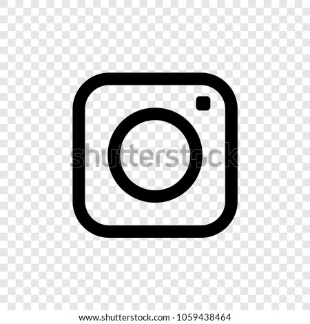 Web icon. Photo camera icon on transparent background