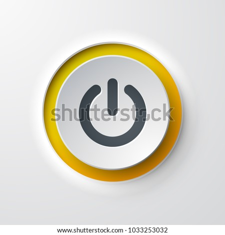 web icon push button power