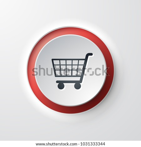 web icon push-button shopping cart