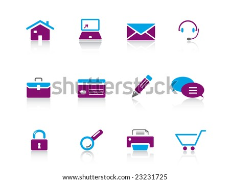 Web icon series 1 - stock vector