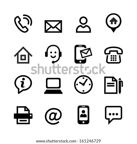 Web icon set - Contact us